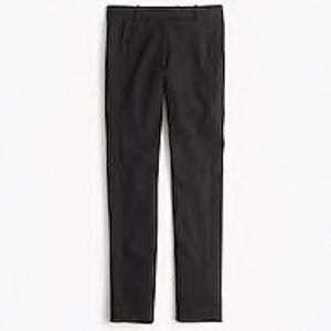 J crew Maddie pants f9059 stretch cotton black